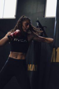 Janay Harding boxing